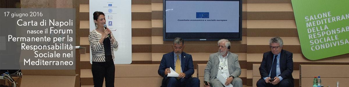Carta di Napoli  nasce il Forum  Mediterraneo della Responsabilità  Sociale